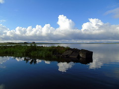 Reflection on Merkister bay (stuartcroy) Tags: orkney island reflection water weather white waves scotland scenery sea sky sony still stone colour clouds