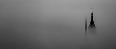 In the mist (Jean-Luc Peluchon) Tags: fz1000 panasonic lumix city town church castle shadow fog haze weather minimalism panoramic dramatic mystical mysterious building cloud brilliant wow