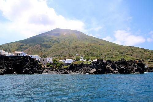 Tour de l'île de Stromboli en bateau / Côte nord
