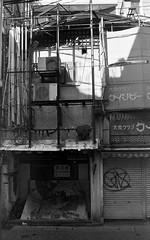 abandoned in Nagasaki (Miroku Bosatsu) Tags: abandoned nagasaki kyushu japan nikon nikkor nikonf2 photomic art filmpool filmphotography caffenolc homebrew homeprocessed analog blackandwhite ultrafine extreme 400 monochrome urban desolation street shootfilmnotmegapixels shootfilm outdoor