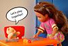 Let's play together! (Deejay Bafaroy) Tags: chelsea barbie mattel doll puppe diorama teddy teddybear teddybär girl mädchen child kind ikea huset 16 scale playscale miniature miniatu blue blau pink orange yellow gelb dice würfel boardgame brettspiel