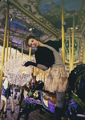 Carnival (andreannelupien) Tags: carnival circus horse fair carousel carrousel game play games girl clown fantasy dress grunge color colour colorful attraction conceptual concept
