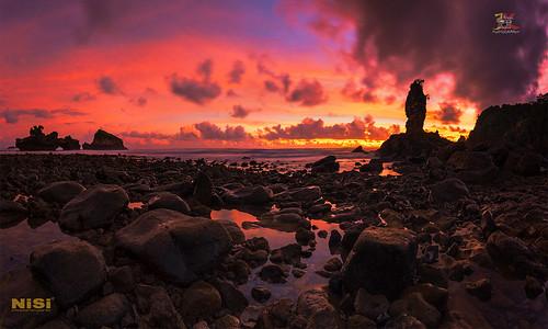 Burning Sunset over Pantai Tirung