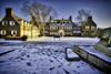 Hayfield House and The Nittany Lion, 2017.01.01 (Aaron Glenn Campbell) Tags: psuwb pennstatewilkesbarre campus lehman backmountain luzernecounty nepa pennsylvania country rural newyearsday winter outdoors topazlabs impression sony a6000 ilce6000 mirrorless rokinon 12mmf2ncs wideangle primelens manualfocus emount