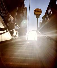 La luz al final del túnel (Nicolas Solop) Tags: sun sunbeam sunray sol buenosaires argentina amanecer sunrise cielo sky urban urbano urbex ciudad city subway metro subte atardecer sunset