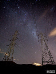 Balance of Power (seantaylorphotography) Tags: canon camera 5d 5d2 5dmk2 fullframe landscapephotography landscapephotographer natgeo natgeotravel aus australia tas tasmania south hobart old beach oldbeach 7017 milky way milkyway astro astrophotography stars starscape powerlines power lines