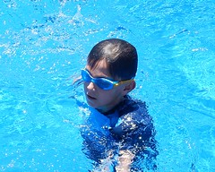 Older Luc (mikecogh) Tags: findon christmasday family pool swimming luc goggles grandson