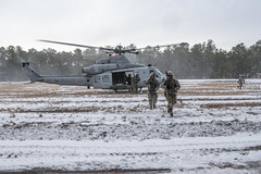 170110-Z-NI803-311 (New Jersey National Guard) Tags: usa usarmy usarmynationalguard nationalguard armynationalguard soldier soldiers jointtraining jointtrainingexercise winter snow nj newjersey jointbasemcguiredixlakehurst jointbasemdl usmc usmarinecorps marines marineaviation mag49 cobra huey supercobra usmarinereserve helicopter attackhelicopter closeairsupport forwardaircontrol armedforces military training exercise ah1 uh1y venom bellhelicopter superhuey yankee fortdix range hvt highvaluetarget airassault radio tactical airinsertion m4 m240b smoke 1114infantry infantry squad platoon
