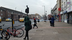 Suspicious package left outside Stepney Green Underground station (Carol B London) Tags: suspicious package left outside stepneygreen undergroundstation tube roadblock roadclosed mileendroad e1 londone1 abandoned