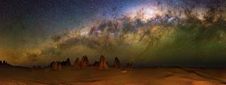 Milky Way setting over The Pinnacles Desert, Western Australia