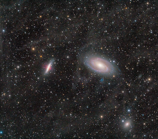 M81, M82, NGC 3077, and Integrated Flux Nebula