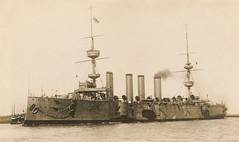HMS Powerful Royal Navy Cruiser (davids pix) Tags: hms powerful battleship armoured cruiser royal navy warship saunders predreadnought