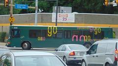 PAAC 5345 Turning (Clinton M. Photography) Tags: bus buses allison publictransit publictransportation pat vehicles transportation transit gillig portauthority advantage paac lowfloor detroitdiesel series50 portauthoritytransit gilligadvantage detroitdieselseries50 allisonb400r b400r portauthorityofalleghenycounty patransit