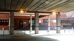 Manchester University Precinct Bridge III (Twizzer88) Tags: uk greatbritain bridge england brick architecture manchester concrete unitedkingdom britain modernism lancashire oxfordroad modernist greatermanchester