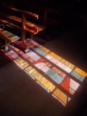 Coloured Reflections, St Thomas More, Stivichall (Aidan McRae Thomson) Tags: church modern catholic coventry warwickshire stivichall styvechale