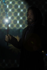 Sirius Black Casts a Spell (ShellyS) Tags: harrypotter actionfigures siriusblack starace