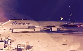 Air Atlanta Icelandic Cargo/Air Bridge Cargo B747-400BCF parking at HKG/VHHH