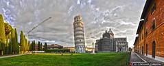 La torre e i cantieri (Giovanni V.) Tags: italy panorama tower church italia torre cathedral belltower pisa chiesa campanile piazza duomo hdr cattedrale primaziale