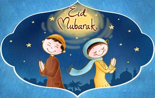 Eid Mubarak Cute Animated Girl Boy Hd Wallpaper Stylish Hd