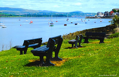 Scotland Gourock four seats for weary legs 9 June 2015 by Anne MacKay (Anne MacKay images of interest & wonder) Tags: public june by river bench landscape four anne scotland clyde picture 9 seats mackay benches gourock 2015 xs1