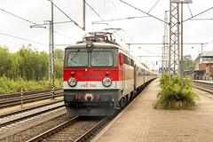 Centralbahn 1142 704 met 89.0 RTL Partyzug, Bad Bentheim, 18 juli 2015 (hemkes) Tags: train rail railway zug trein spoor badbentheim bentheim obb 1142 sonderzug partyzug centralbahn