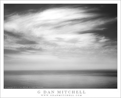 Monsoonal Clouds, Pacific Ocean (G Dan Mitchell) Tags: ocean california sky blackandwhite usa seascape reflection nature water monochrome clouds america landscape coast pacific north bigsur moonson