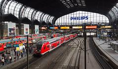 Hauptbahnhof, Hamburg, Germany (maxunterwegs) Tags: train germany tren deutschland hamburg zug bahnhof railwaystation trainstation alemania trem hamburgo hambourg alemanha estaçãoferroviária alemagne estacióndeferrocarril estaciónferroviaria hamburghauptbahnhof gareferroviaire