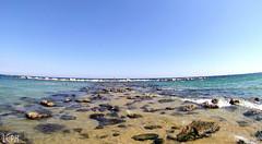 Barceloneta (l.casadio) Tags: barcelona summer sun mare estate playa barceloneta di acqua viaggio barcellona spagna scogli catalogna caldo maturità cataluna limpida