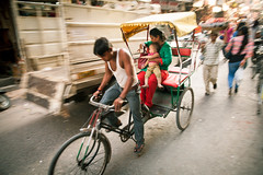 Delhi, India (lunarlynx) Tags: poverty street new old city travel people inspiration motion streets buzz asian asia traffic delhi indian crowd hard culture streetphotography explore wires heat destination worker traveling hindu bustle harsh hustle inda risckshaw