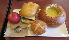 August 2, 2015 (5) (gaymay) Tags: california gay love apple bread happy soup desert spoon sandwich triad