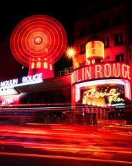 Red (Elliotphotos) Tags: city red paris france mill europe spin spinning lighttrails nightlife moulinrouge elliot mills rotating parisfrance rotate lighttrail redmill gilfix elliotphotos elliotgilfix