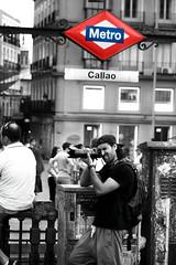 Fran. (F_J Storage) Tags: madrid camera city blue boy red man hat canon buildings underground blackwhite spain nikon focus metro walk young hobby teen tele amateur peolpe callao dlsr 600d