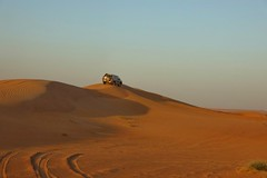 Alone in the dunes (CzechInChicago) Tags: desert emirati emirates uae dubai safari toyota offroad 4x4