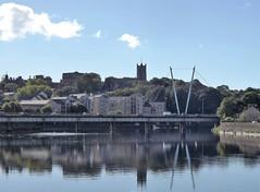 Lune and Priory (kazibee) Tags: lancaster castle priory millennium bridge river lune refelction