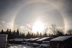 sundog (Adrian stoness) Tags: sundog winter ice wabowden manitoba canada north