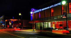 First Ontario Performing Arts Centre (Rex Montalban Photography) Tags: rexmontalbanphotography firstontarioperformingartscentre longexposure lightstreaks stcatharines night hdr