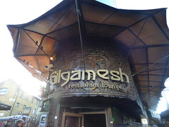Camden Market - Gilgamesh restaurant lounge (ell brown) Tags: camdentown camden london greaterlondon england unitedkingdom greatbritain londonboroughofcamden camdenmarket sign marketstall marketstalls gilgameshrestaurantlounge
