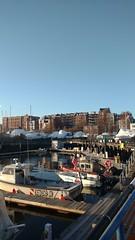 Marina in East Boston, MA in the Winter (maxwilensky) Tags: eastboston boston massachusetts newengland harbor bostonharbor boats marina winter ocean