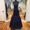 prom dresses (maweiyu) Tags: fabulous mermaid navy blue prom dress vneck floorlength sleeveless with tiered lace