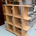 Beech open fronted shelf unit
