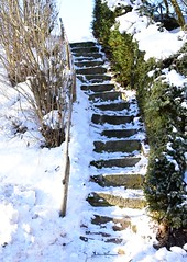 Stairway to the sky (:Linda:) Tags: germany thuringia village bürden snow step stair