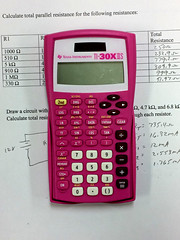 A White Worksheet and a Pink Calculator (byzantiumbooks) Tags: werehere hereios pink calculator