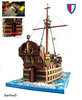 CCCXIV - The Lord of the Isles (aardwolf_83) Tags: lego cccxiv classic castle ship water sea sailing cog carrack tree lenfald lor interior hull shaping curved curvature sail ballista functional rigging mast