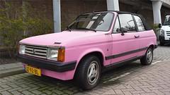 Talbot Samba 1.3 Cabriolet (sjoerd.wijsman) Tags: zuidholland holanda olanda holland niederlande nederland thenetherlands netherlands paysbas carspot carspotting cars car voiture fahrzeug auto autos pink rose roze talbot samba talbotsamba jz92bl sidecode4 cabriolet cabrio convertible