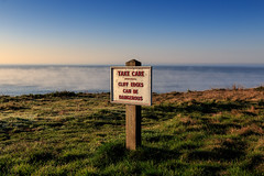 Freezing Fog on a Sunny Winters Day - IMG_6259 (s0ulsurfing) Tags: s0ulsurfing 2016 december isle wight winter freezing fog freshwater bay weather weird sign danger