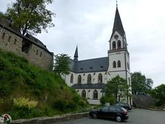Kastellaun - Burg Kastellaun und katholische Kirche