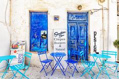 Smoothies Bar (Kevin R Thornton) Tags: d90 blue smoothiesbar nikon travel street mediterranean greece mykonos city mikonos egeo gr
