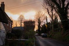 Northbourne village just before Christmas (Jean Latteur) Tags: northbourne kent village night evening sunset street party christmas nikon d3300 nikkor 35mm f18g