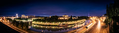 Saarbrücken by night (designladen.com) Tags: allemagne deutschland europa europe germany nacht night saar saarbrucken saarbruecken saarbrücken saarland sarre sarrebruck p8169553pano panorama