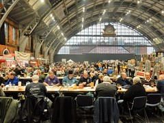 Manchester Beer Fest (deltrems) Tags: manchester beer cider fest festival real ale central station gmex camra drinkers people men women hall clock